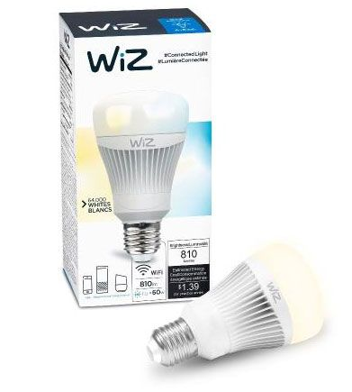 IZ0126071 WiZ 5.75 Inch 11.5W A19 LED Wi-Fi Connected Smart LED Light Bulb By WiZ-Smart-Products
