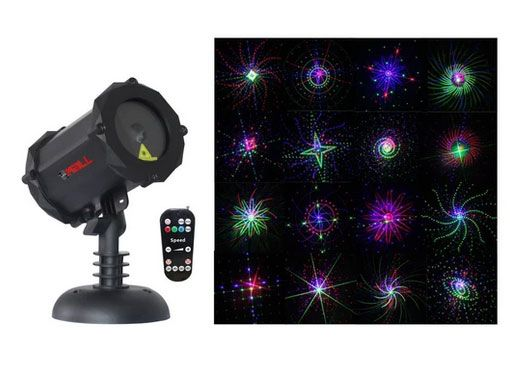 LedMAll® Bluetooth RGB Firefly with Large motion patterns Laser Christmas Lights, decorative, landscape and garden projector with remote control and timer