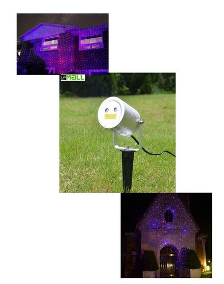 Blue and Red Moving Firefly Remote Control Laser Lights For Events, Parties and Landscape Decor (motion)