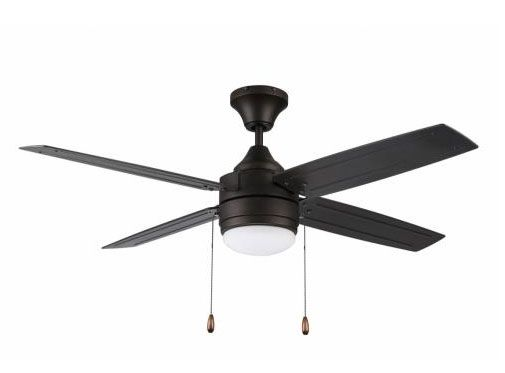 Litex AK524L Aikman Single Light LED Ceiling Fan Rated for Damp Locations