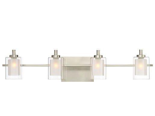 Quoizel Lighting KLT8604BNLED Kolt 4 Light Transitional Extra Large Bath Vanity Approved for Damp Locations