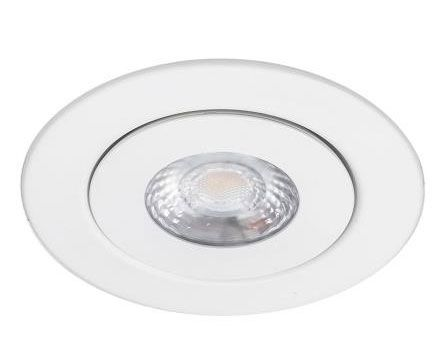 WAC Lighting R6ERAR-W930-WT Lotos 6 Inch 14W 3000K 1 LED Round Line Voltage Adjustable Recessed Kit