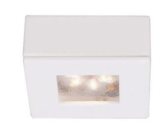WAC Lighting HR-LED87S Ledme 2 Inch 4.8W 2700K 1 LED Square Recessed/Surface Mount Button Light