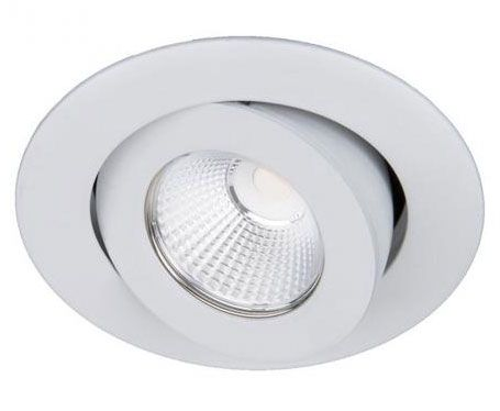 WAC Lighting R3BRA-F930 Oculux 3.5 Inch 11W 50 degree 3000K 90CRI 1 LED Round Adjustable Trim with Light Engine