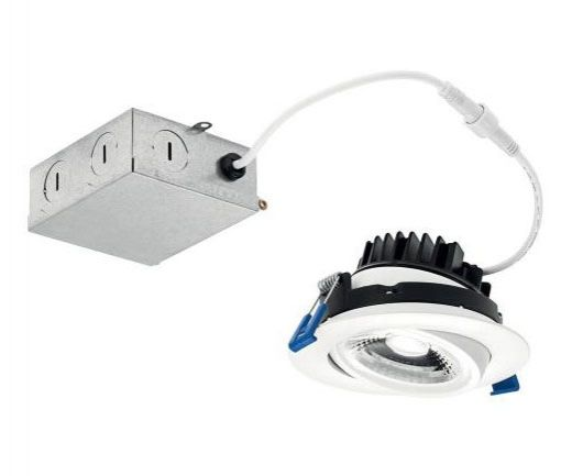 Kichler Lighting DLGM04R Direct to Ceiling 4 Inch 12W 1 LED Round Gimbal Downlight 2700K