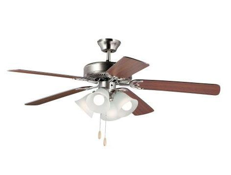 Maxim Lighting 89907FTWP Basic-Max 52 Inch Indoor Ceiling Fan with Light Kit I