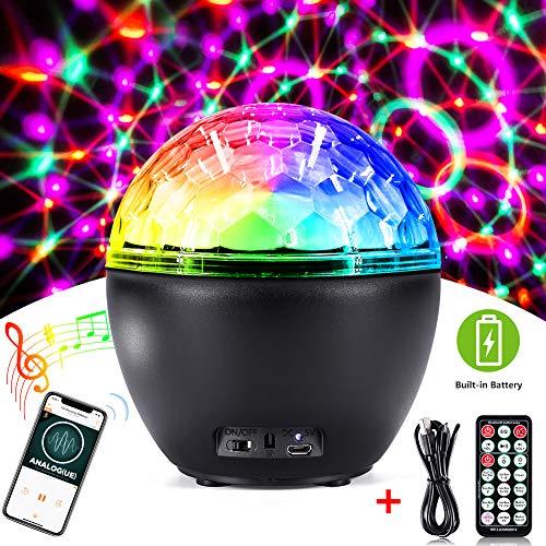 Bluetooth Disco Light,CrazyFire Party Light with Remote Control,16 Light Modes Strobe Lights for ...