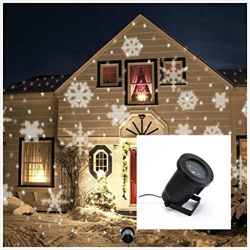 summitlink white snow shower laser christmas light show led projector - Led Laser Christmas Lights